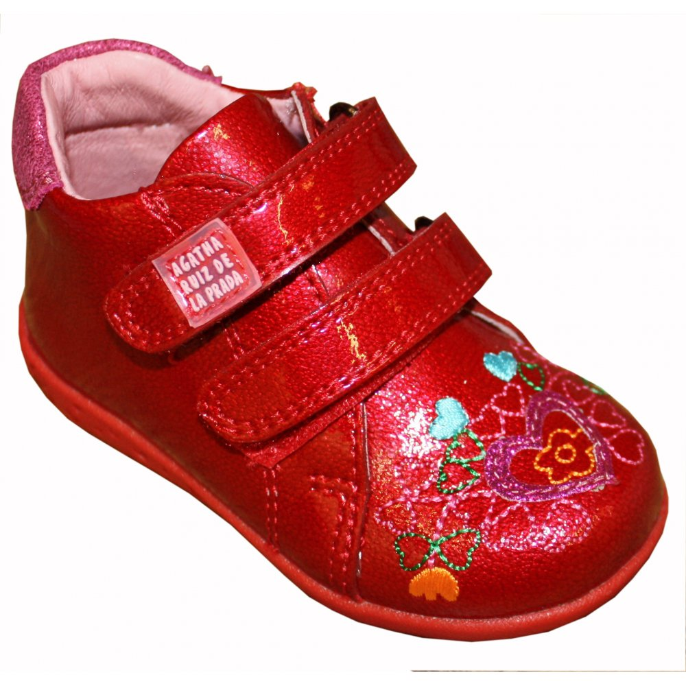 agatha ruiz de la prada red leather shoes. Black Bedroom Furniture Sets. Home Design Ideas