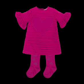 Dress Amd Tights Fuschia