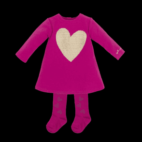Dress And Tights Fuschia