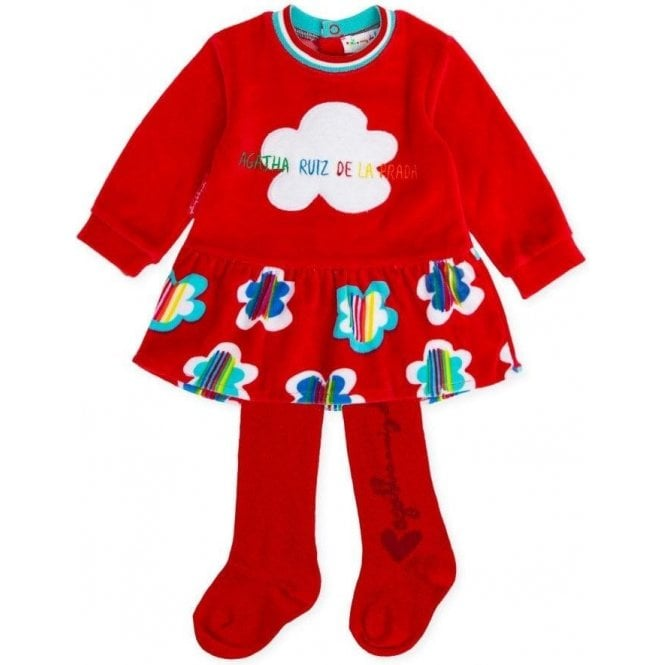 AGATHA RUIZ DE LA PRADA Dress And Tights Red