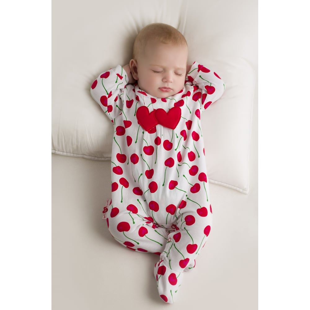 agatha ruiz de la prada white and red cherry print romper. Black Bedroom Furniture Sets. Home Design Ideas