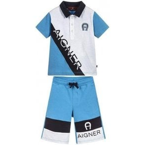 Polo Shirt And Shorts Blue
