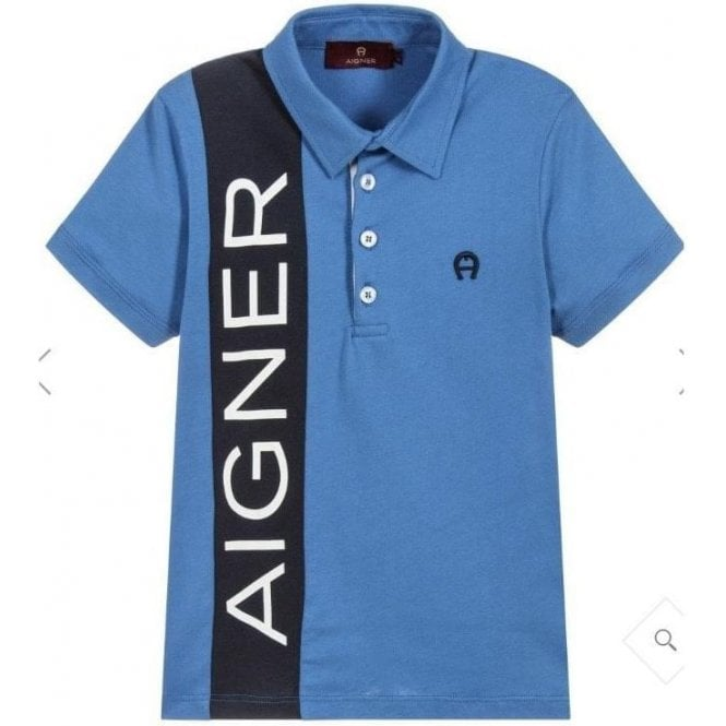 AIGNER Polo Shirt Blue