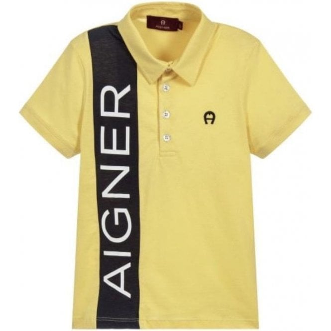 AIGNER Polo Shirt Yellow