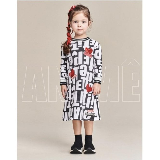 ANIME Dress White/black/red