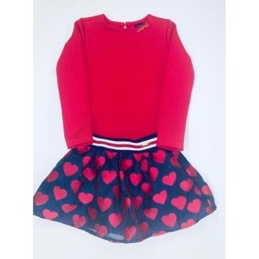 Top And Skirt Red/navy