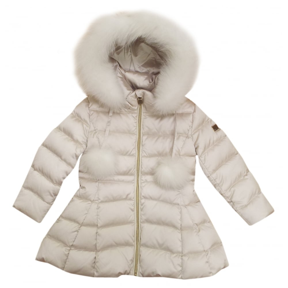 2d1fcf651 Cream real fur coat from Baby A