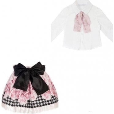 Skirt & Shirt Pink/black