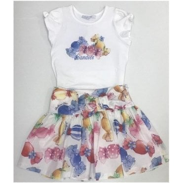 Top And Skirt Multicolour