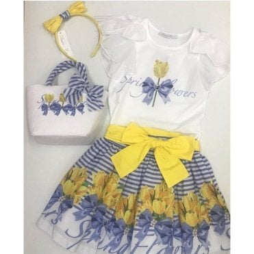 Top And Skirt Yellow/blue