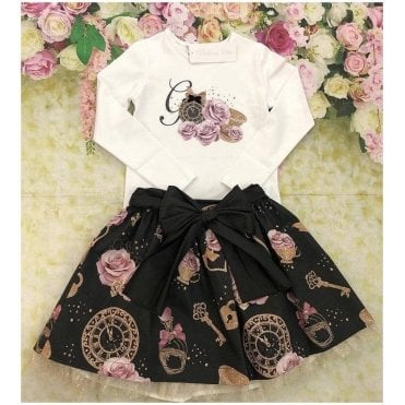 Top & Skirt Pink/black