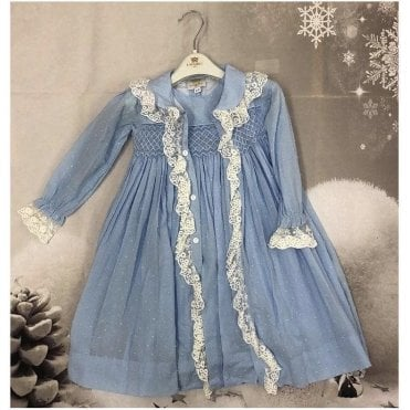 Nightie And Dressing Gown Blue