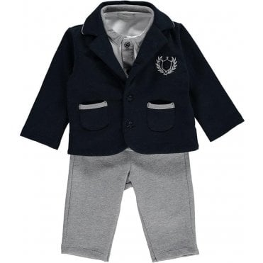 Top Troussers And Jacket Grey/navy