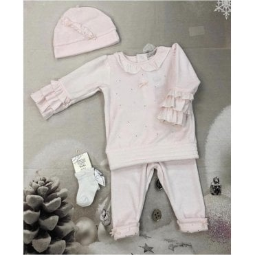 Tunic Leggin And Hat Pink