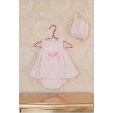 Dress Knickers & Bonnet Pink