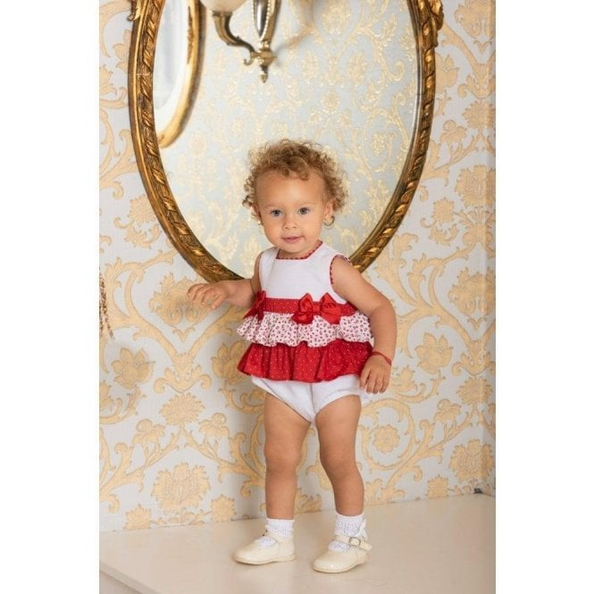 DOLCE PETIT Romper Red