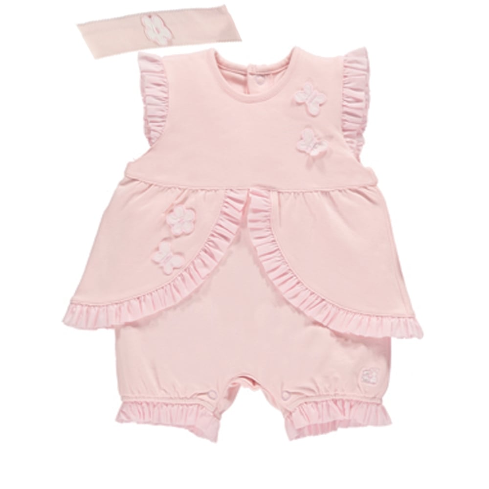 Emile Et Rose Pink Romper With A Headband