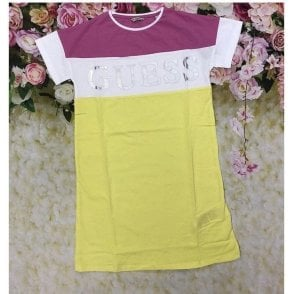 Dress Pink/yellow/white