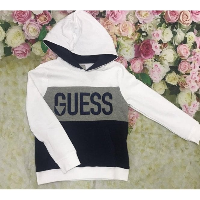GUESS KIDS Hoodie Grey/white