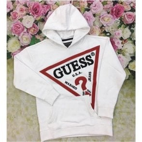 Hoody White/red/black