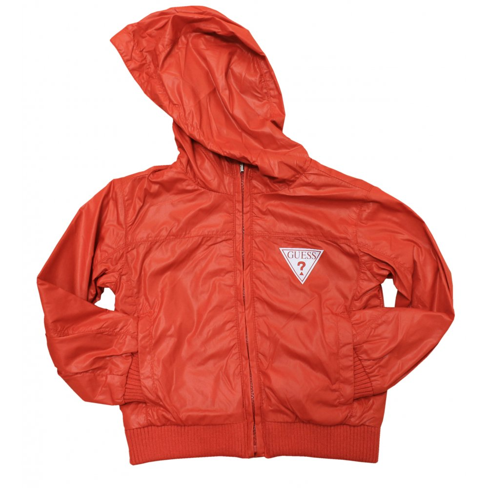 5a8f8e69e445 Guess- Red hooded jacket.
