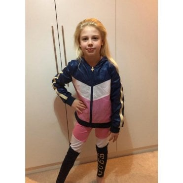 Jacket T-shirt And Legging Navy/pink/white