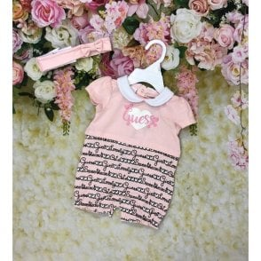 Romper And Headband Pink