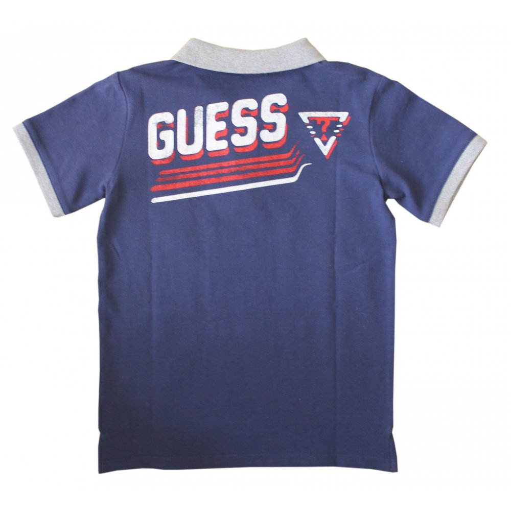 home boys guess kids guess kids t shirt navy. Black Bedroom Furniture Sets. Home Design Ideas