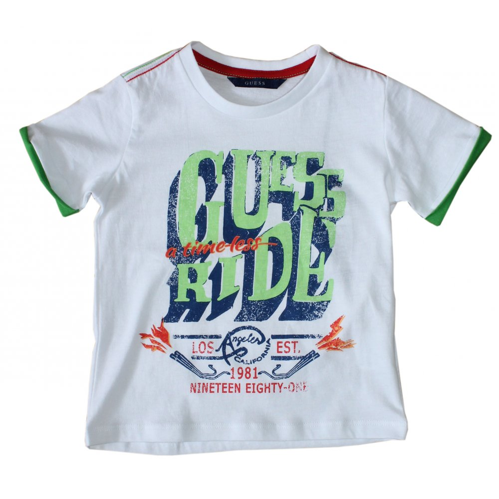 home boys guess kids guess kids t shirt white. Black Bedroom Furniture Sets. Home Design Ideas