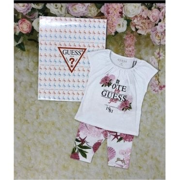 Top And Legging Pink/white