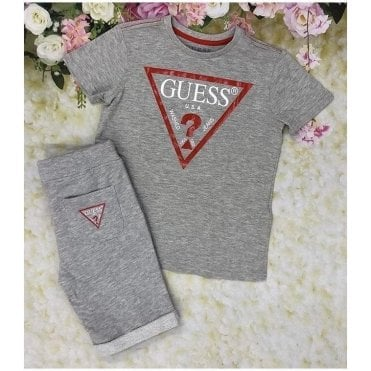 Top And Shorts Grey