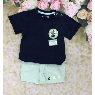 Top And Shorts Navy/green