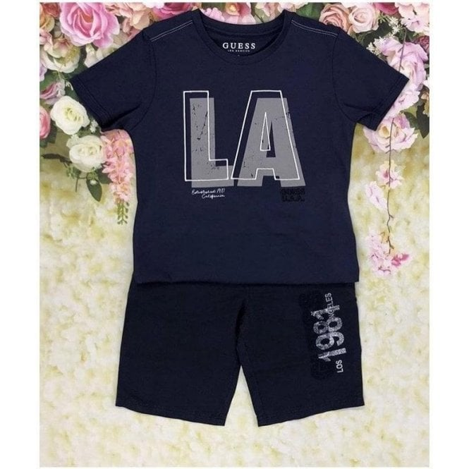 GUESS KIDS Top And Shorts Navy