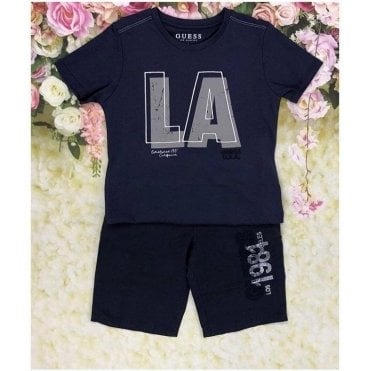 Top And Shorts Navy