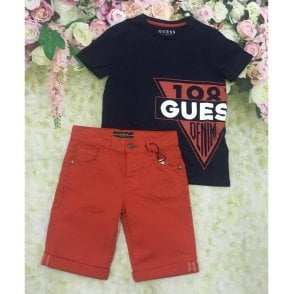 Top And Shorts Navy/red