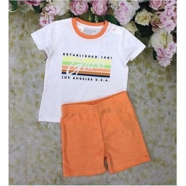 Top And Shorts Orange