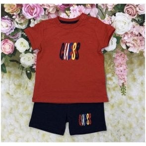Top And Shorts Red/navy