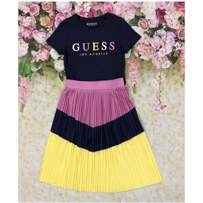 GUESS KIDS Top And Skirt Navy