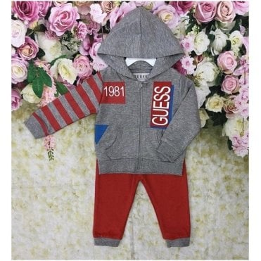 Tracksuit Grey/red