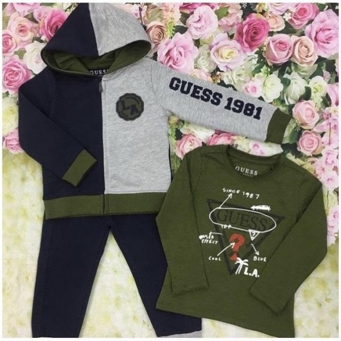 GUESS KIDS Tracksuit Navy/green
