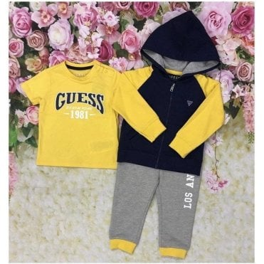 Tracksuit Yellow/navy/grey