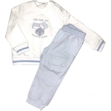 Tracksuit White/blue