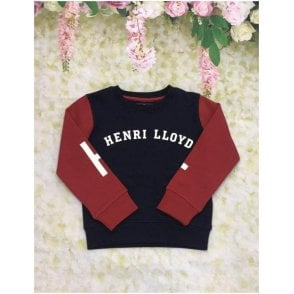 Sweatshirt Navy/red