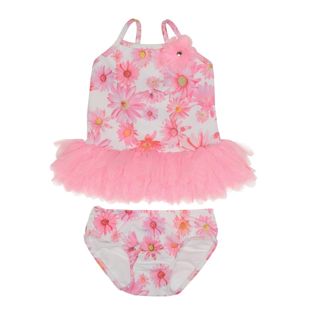 KATE MACK Swimming costume Pink. u2039  sc 1 st  Baby Melanie & Kate Mack- Pink floral print 2 piece swimming costume