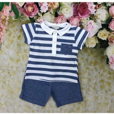Top & Shorts Blue/white