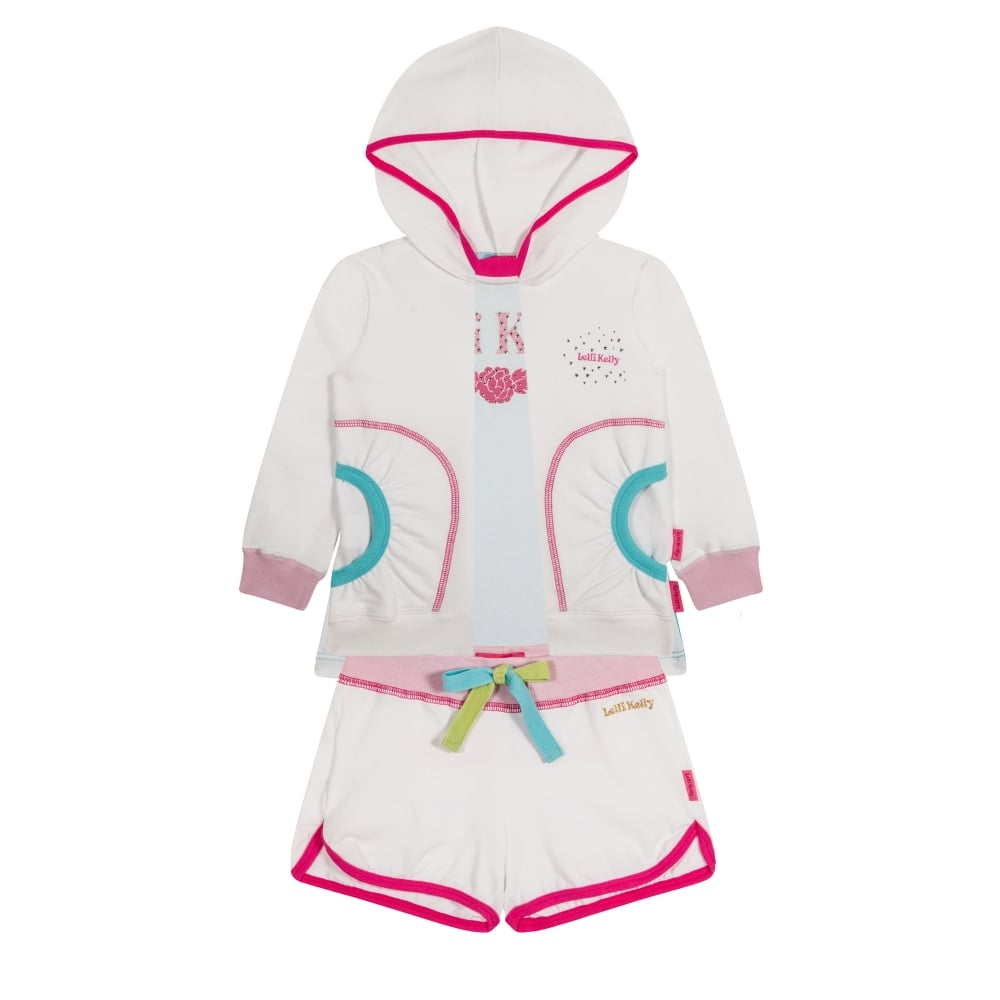 Lelli Kelly White and pink tracksuit