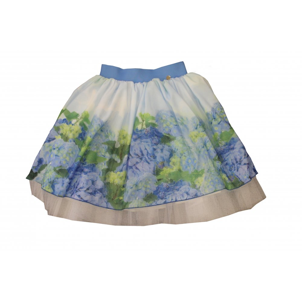 made white and blue skirt