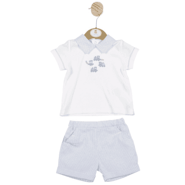 Top And Shorts Blue/white