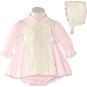 Dress And Bonnet Pink