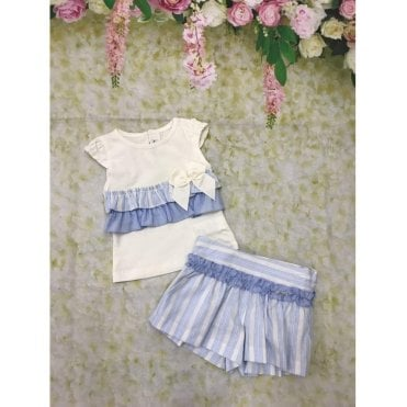 Top And Skirt Blue/cream